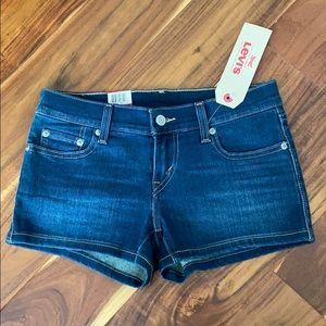 Levis denim shortie shorts low rise slim size 25